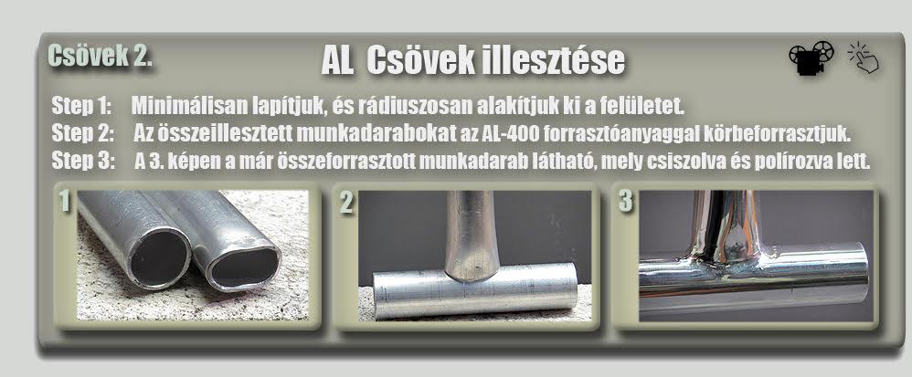 Alumínium csövek illesztése forrasztásnál