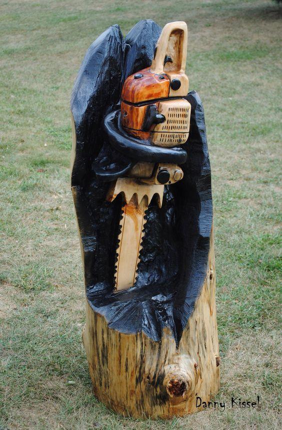 Stihl láncfűrész fából