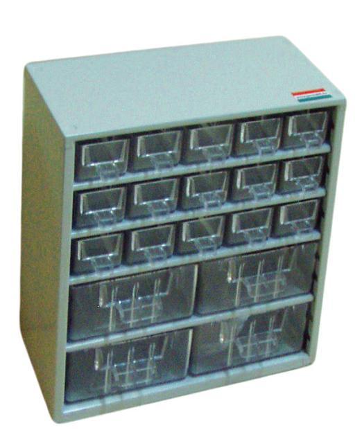 Hobby box 28,5x30cm-es, 4 közepes és 15 kicsi fiók, 513-as